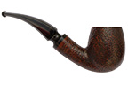Leather Rusticated Bent Billiard Smoking Pipe
