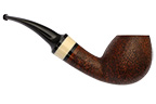 Leather Rusticated Bent Egg Smoking Pipe
